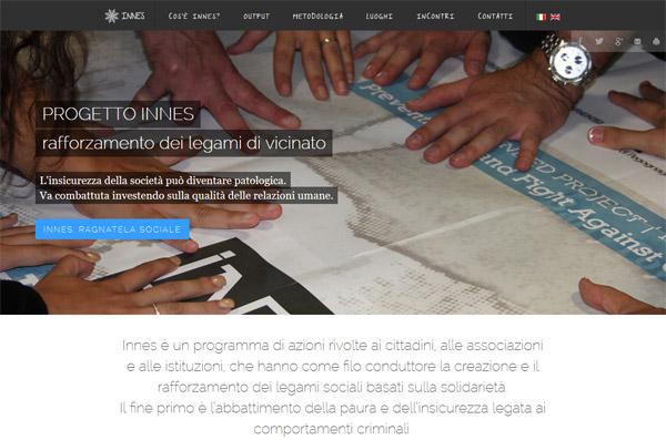 Screenshot Sito Web Progetto Innes