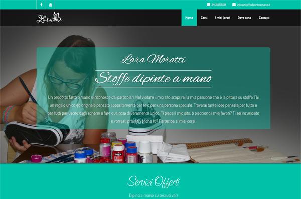 Screenshot Sito Web Stoffe Dipinte A Mano