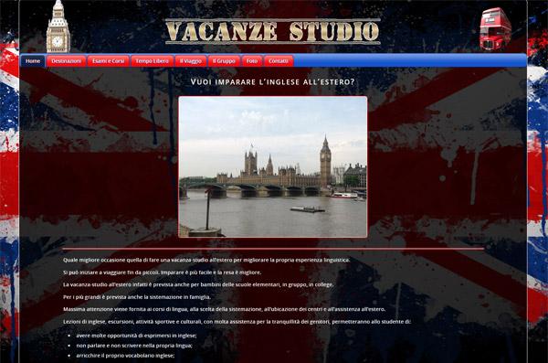 Screenshot Sito Web Vacanze Studio Estero